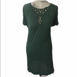 BCBG Green Beaded Dress XS